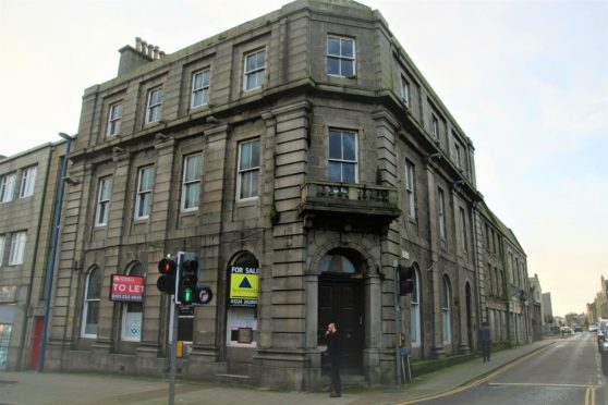 The former Clydesdale Bank in Fraserburgh  Picture courtesy  of the North East Scotland Preservation Trust.