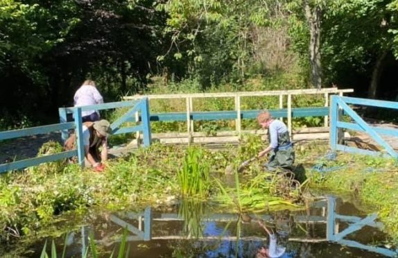 Work on creating the sensory garden is under way