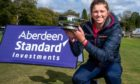 Hannah McCook celebrates winning the ladies order of merit on the Tartan Pro Tour.