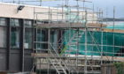 Picture by SANDY McCOOK   16th January '20 Works continue amid controversy on Inverness High School, Inverness.