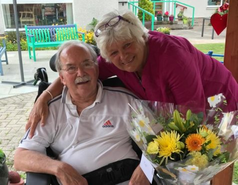 Joanna and David Elson on their 39th wedding anniversary last year.