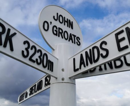 The famous John O'Groats sign post