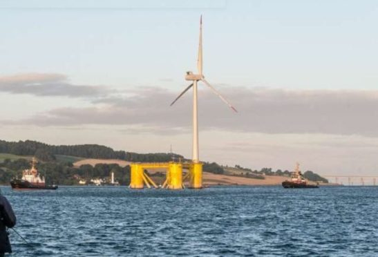 'Dolphyn', which will produce green hydrogen off Aberdeen, will use a similar turbine design as that of the Kincardine Offshore Wind Farm.