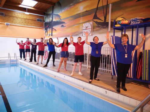 Staff at Keith swimming pool