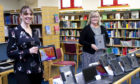 Gail Imlach and Karen Parkins from Moray Council's library service.
