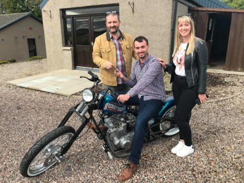 Matt Wilson is the lucky winner of a custom motorbike from a Teen Challenge North East Scotland prize draw.