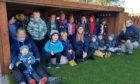 RAF Lossiemouth Childcare Centre's outdoor shelter 3-5 group.