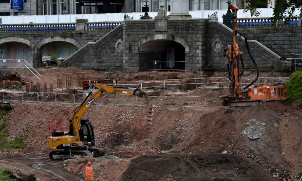 Union Terrace Gardens is being given a £28 million facelift. Picture by Kenny Elrick.