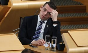 Are politicians like Douglas Ross (pictured) only backing the push to abolish 'not proven' for votes?