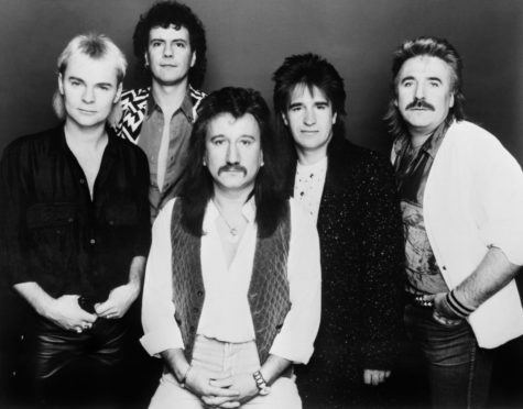 One of Britain's longest running rock bands, Uriah Heep. Left to right; Bernie Shaw, Phil Lanzon, Mick Box, Trevor Bolder, and Lee Kerslake.