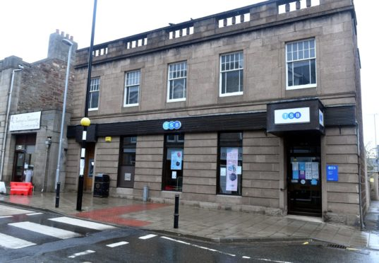 Turriff's TSB branch is one of 17 in the north-east and Highlands which will close within a year. Picture by Chris Sumner.
