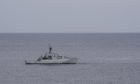 Pictured is the Royal Navy HMS Severn in the North Sea near Stonehaven. Picture by DARRELL BENNS   Pictured on 04/09/2020