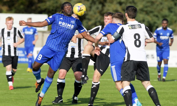 Peterhead's Isaac Layne.  Picture by Kath Flannery
