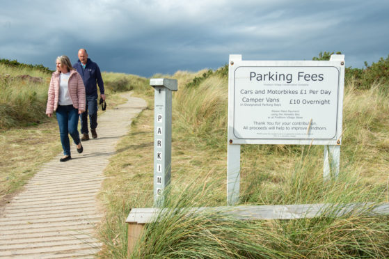Voluntary parking charges were introduced in Findhorn in 2018.