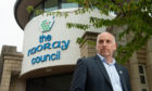 Glyn Morris, chief executive of charity Friendly Access, outside Moray Council. Photo by Jason Hedges.