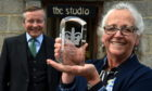 The Lord-Lieutenant of Aberdeenshire, Sandy Manson, presented the Queen's Award for Voluntary Service to North East Open Studios' Fiona Duckett.
