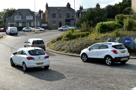 The busy St Machar roundabout could be removed under the plans.