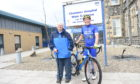 David Jarvis with Janet Anderson from Friends of Chalmers Hospital.  Picture by Paul Glendell