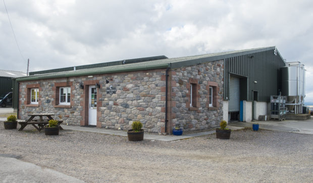 The Cromarty Brewing Company buildings that were broken into
