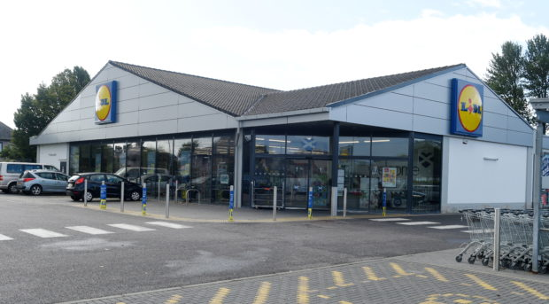The Inverness Lidl store on Telford Street was broken in to earlier this week with a quantity of alcohol stolen. Picture by SANDY McCOOK