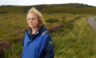 Heather Teale at the site of the proposed helipad in Applecross.