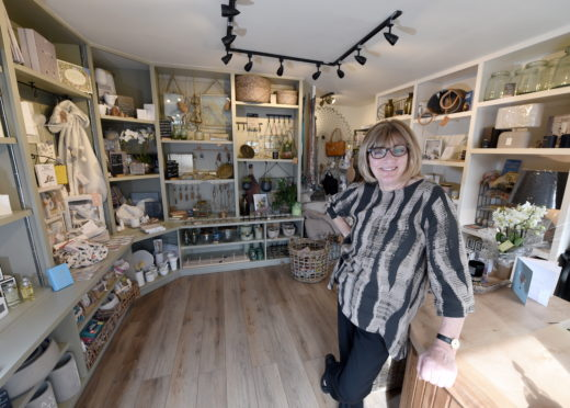 Isobel Kirkland has opened her Finishing Touches store in Forres during the coronavirus lockdown. Photo by Sandy McCook.