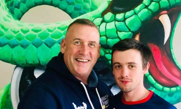 Paul Roberts, 52, and Sean Jones, 27 have began a two week trek from Inverness to Milngavie, near Glasgow to raise funds for Help for Heroes.