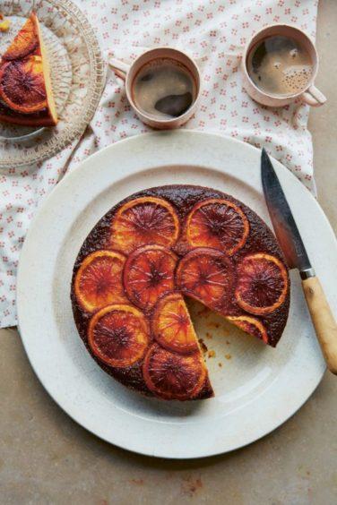 Blood orange cake.