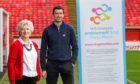 Sheena Lonchay, operations manager for NHS Grampian Endowment Fund, with Robbie Edderman, partnership and business development manager at AFCCT.