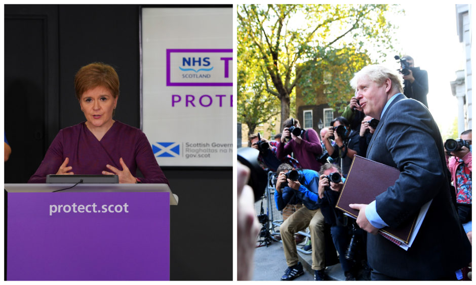 First Minister Nicola Sturgeon and Prime Minister Boris Johnson will deliver updates