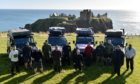 A team of ex-servicemen and women set off from Dunottar Castle on Friday.