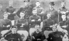 This photograph of Arbroath FC in the 1880s includes five members of the squad which famously beat Bon Accord 36-0. At the front left of this photograph is John 'Jocky' Petrie, who scored 13 goals in the match, earning him the record for the most goals scored in a senior tournament.