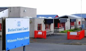 Whiteness Primary School, which is located 10 miles from Lerwick