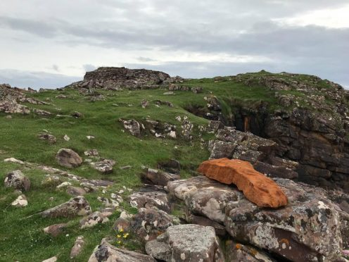 A cast iron casting has been stolen from a monument Picture shows; Cast iron casting. Clachtoll, Assynt. Courtesy Highlands police Date; Unknown