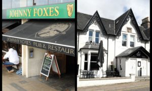 Johnny Foxes (left) and the Heathmount (right) have both closed for the day because of positive coronavirus tests. Pictures by Sandy McCook