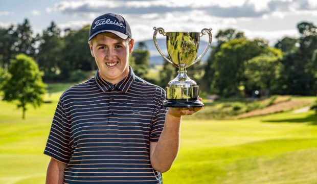 Kemnay junior champion Fraser Laird, who equalled the club's course record.