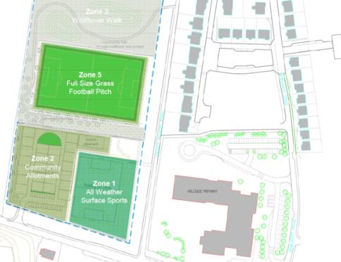A plan for the Hillside development in Portlethen