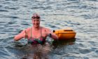 Jennifer Laffan, braving the icy North Sea during training.