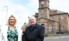 Buchan Area Committee chairman Norman Smith with Diane Beagrie, vice chairwoman at the Muckle Kirk, Peterhead.