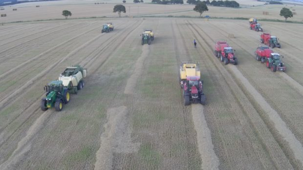 The balers in action at Bent Farm.