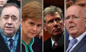 Alex Salmond, Nicola Sturgeon, Kenny MacAskill and Peter Murrell.