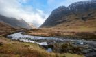 A view across Glencoe in the south Highlands..