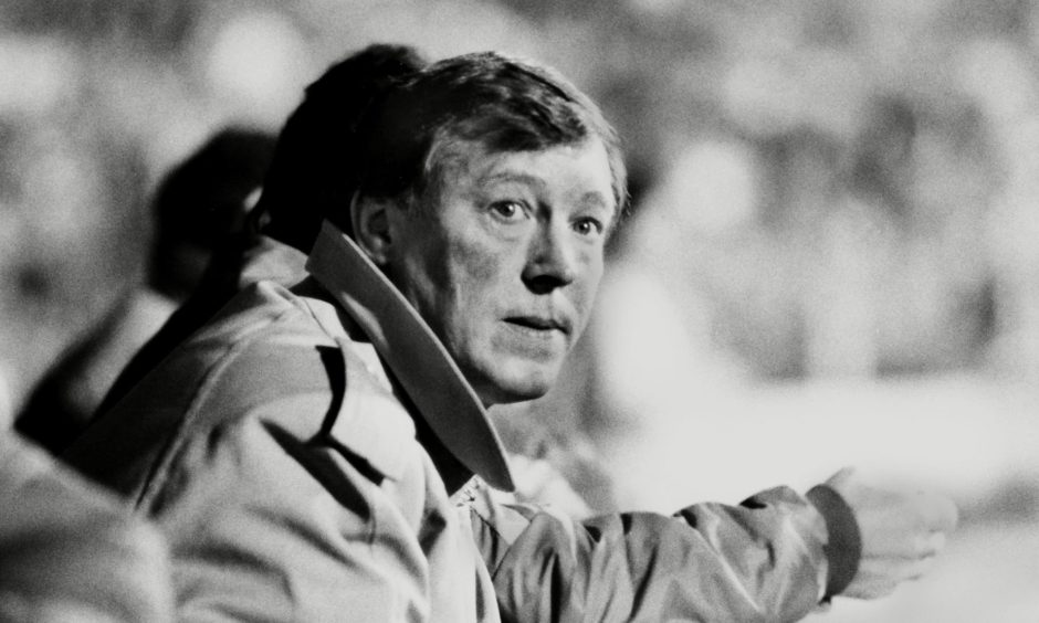 Manchester United manager Alex Ferguson at Plough Lane in 1986.