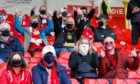 Fans at Aberdeen's meeting with Kilmarnock in September.