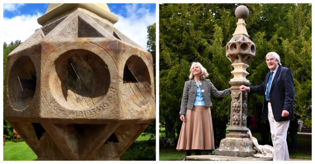 The sundial was unveiled by Lady Aberdeen and garden historian Christopher Dingwall