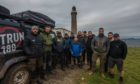 The VetRun180 initiative challenged a group of 11 veterans to traverse Scotland off-road, from Dunottar Castle in the east, to Ardnamurchan Lighthouse on the west coast.