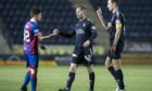 Jack Brown in his only senior game for Caley Thistle against Falkirk.
