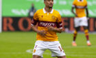 Jermaine Hylton in Motherwell colours.