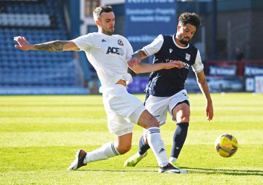 Cove Rangers defender Scott Ross in action against Dundee.