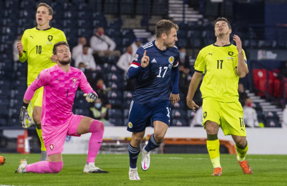 Scotland are currently ahead of Euros group-mates the Czech Republic in the Nations League standings.